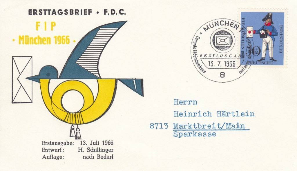 Kongress des FIP in München 1966 - Bayerische Postkutsche und Preußischer Briefträger 518210