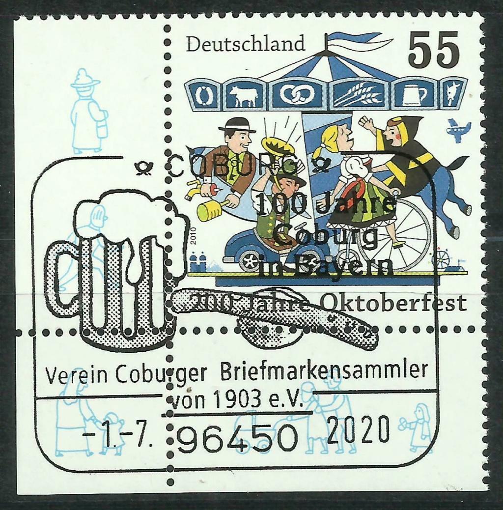 """""""Coburg 100 Jahre in Bayern"""" - Am 1.7.20 Sonderpostamt vor Ort  Cib10010"""