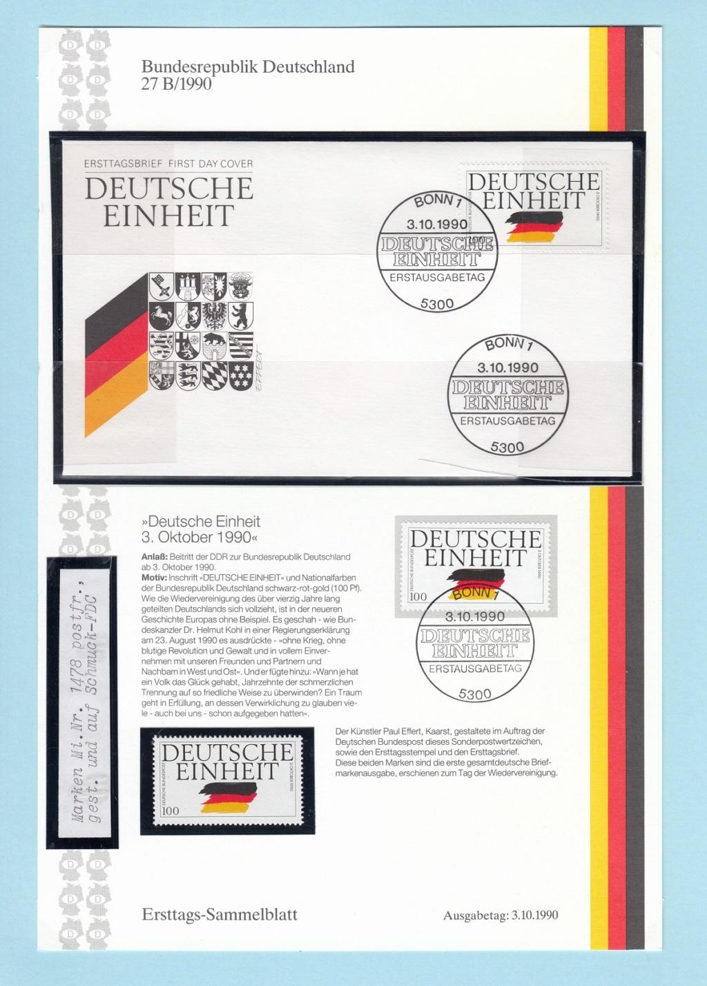 Die Vereinigung von West- und Mitteldeutschland vor 30 Jahren D1910