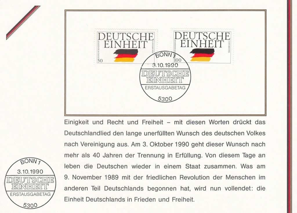 Die Vereinigung von West- und Mitteldeutschland vor 30 Jahren D2410