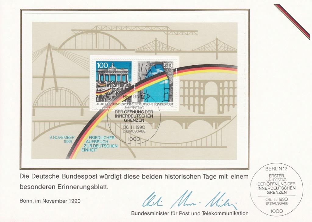 Die Vereinigung von West- und Mitteldeutschland vor 30 Jahren D2510
