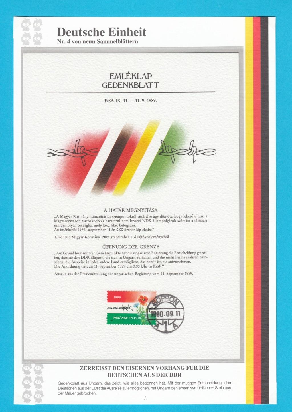 Die Vereinigung von West- und Mitteldeutschland vor 30 Jahren D2810