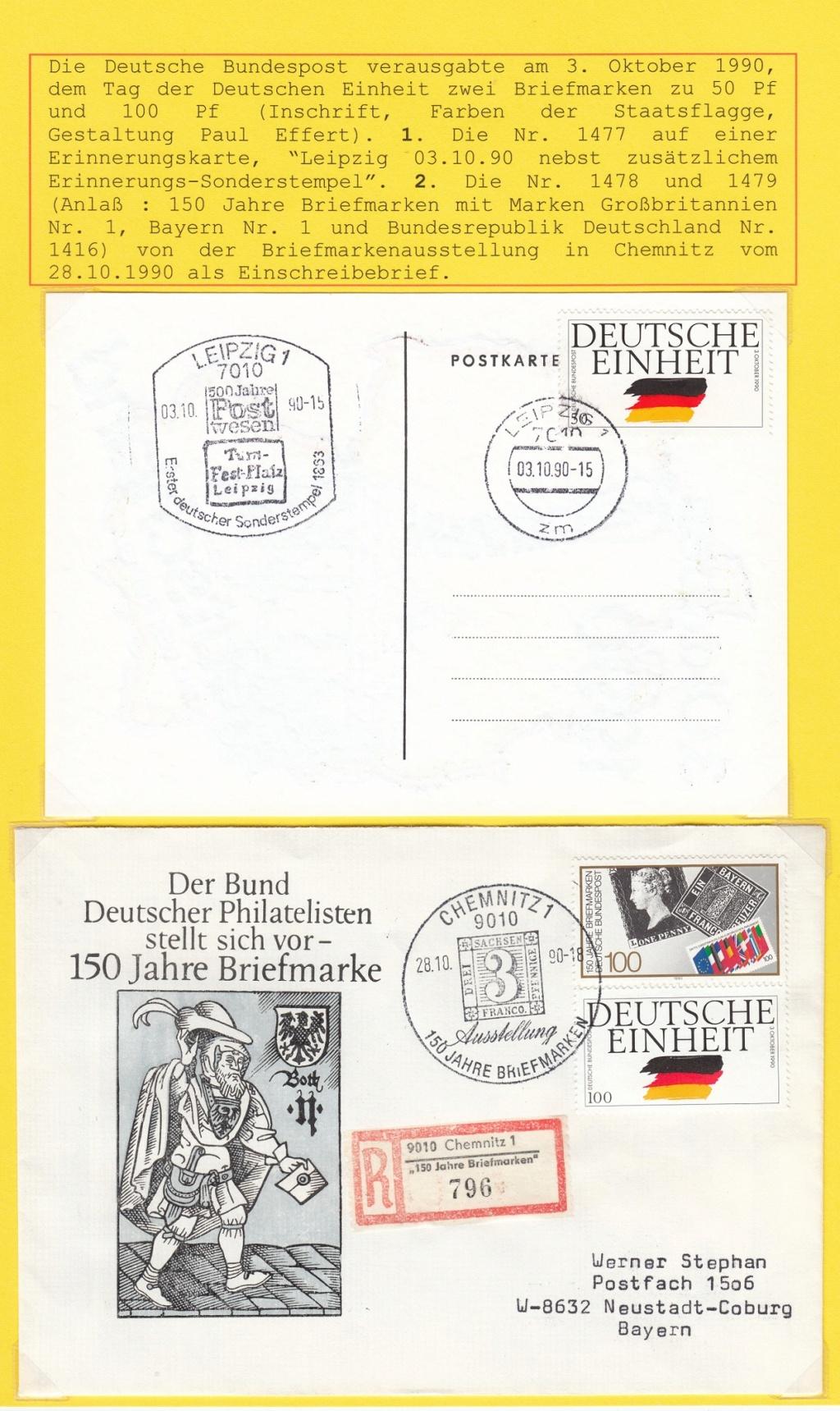 Die Vereinigung von West- und Mitteldeutschland vor 30 Jahren D2910