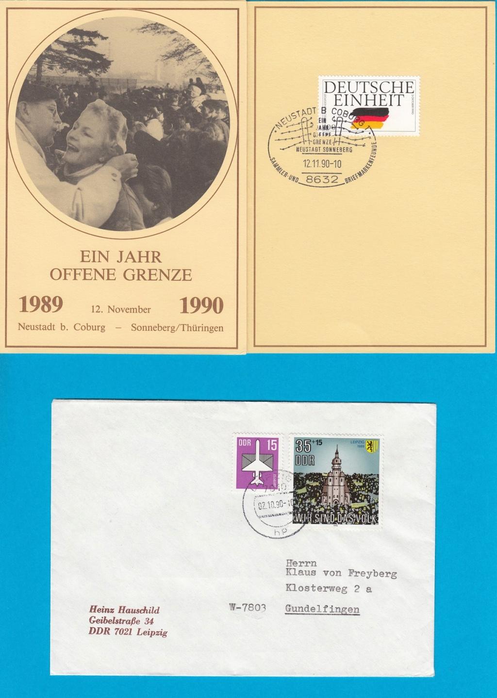 Die Vereinigung von West- und Mitteldeutschland vor 30 Jahren D3110