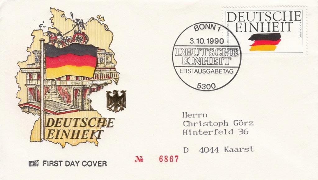 Die Vereinigung von West- und Mitteldeutschland vor 30 Jahren D3310