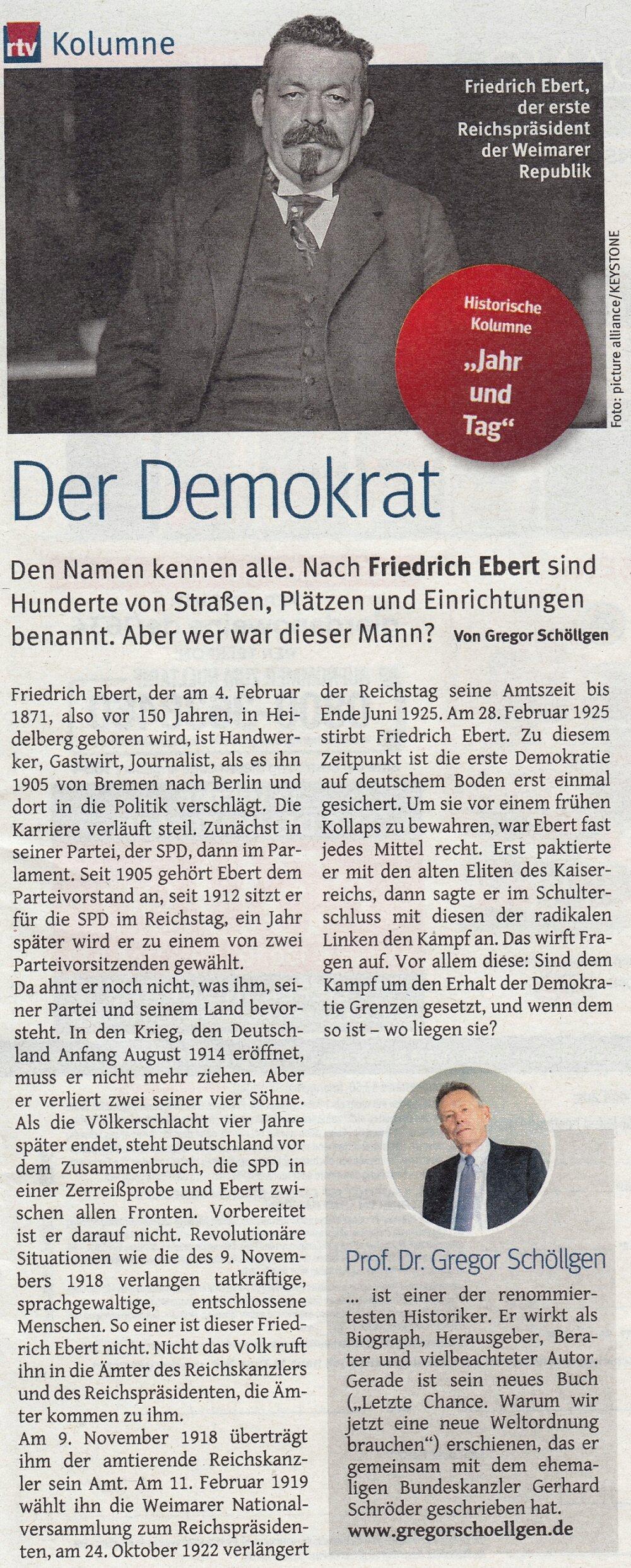 Reichspräsident Friedrich Ebert Ebert110