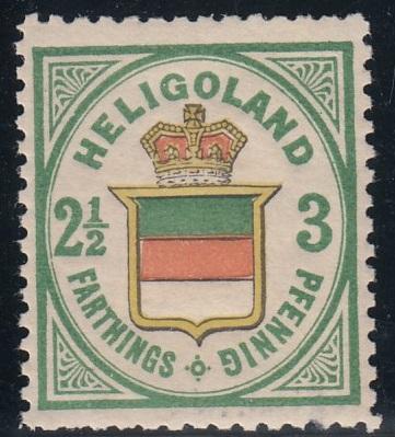 Julius Goldner und die Helgoland - Briefmarken Hel1a10