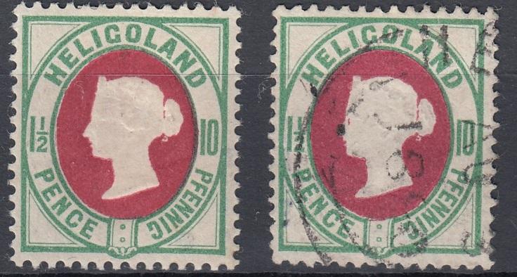 Julius Goldner und die Helgoland - Briefmarken Hel1i10