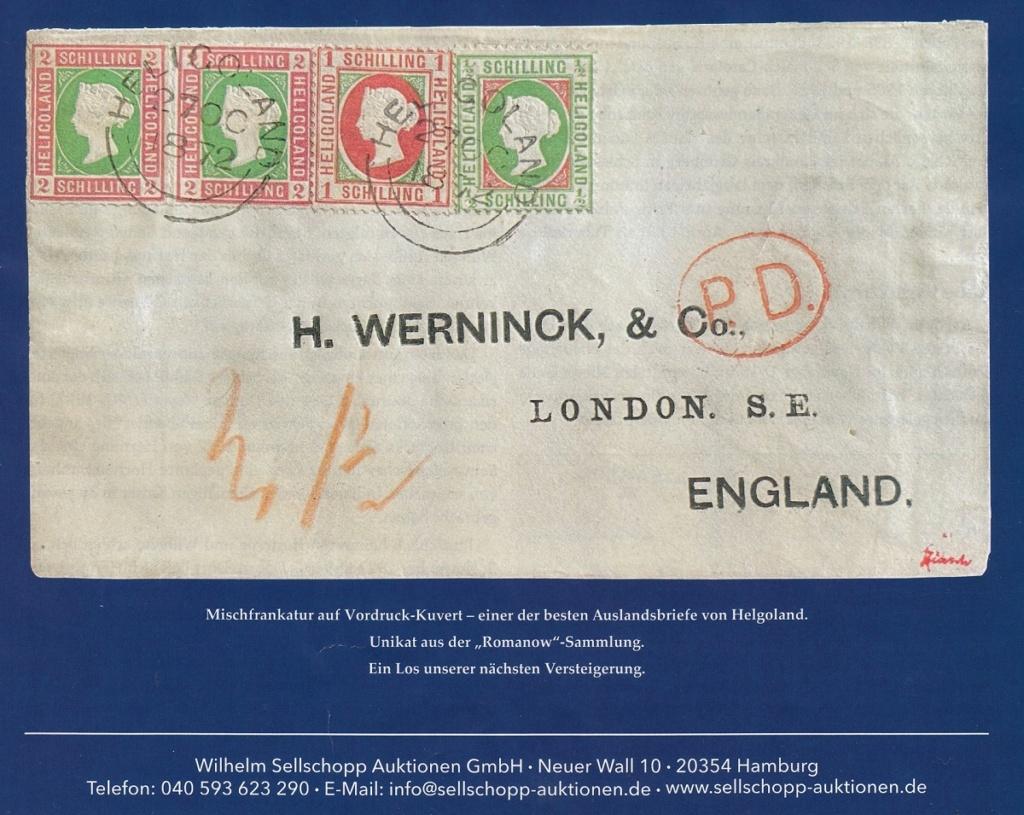Julius Goldner und die Helgoland - Briefmarken Helw10