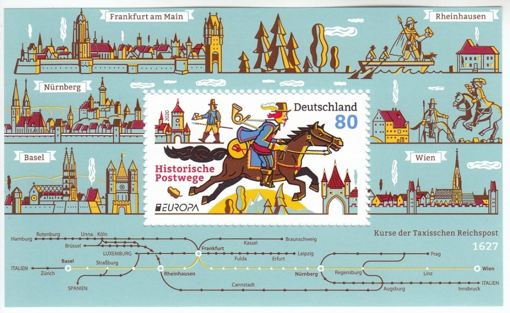 Historische Postwege in Europa Hp110