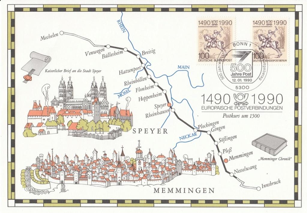 Historische Postwege in Europa Hp210
