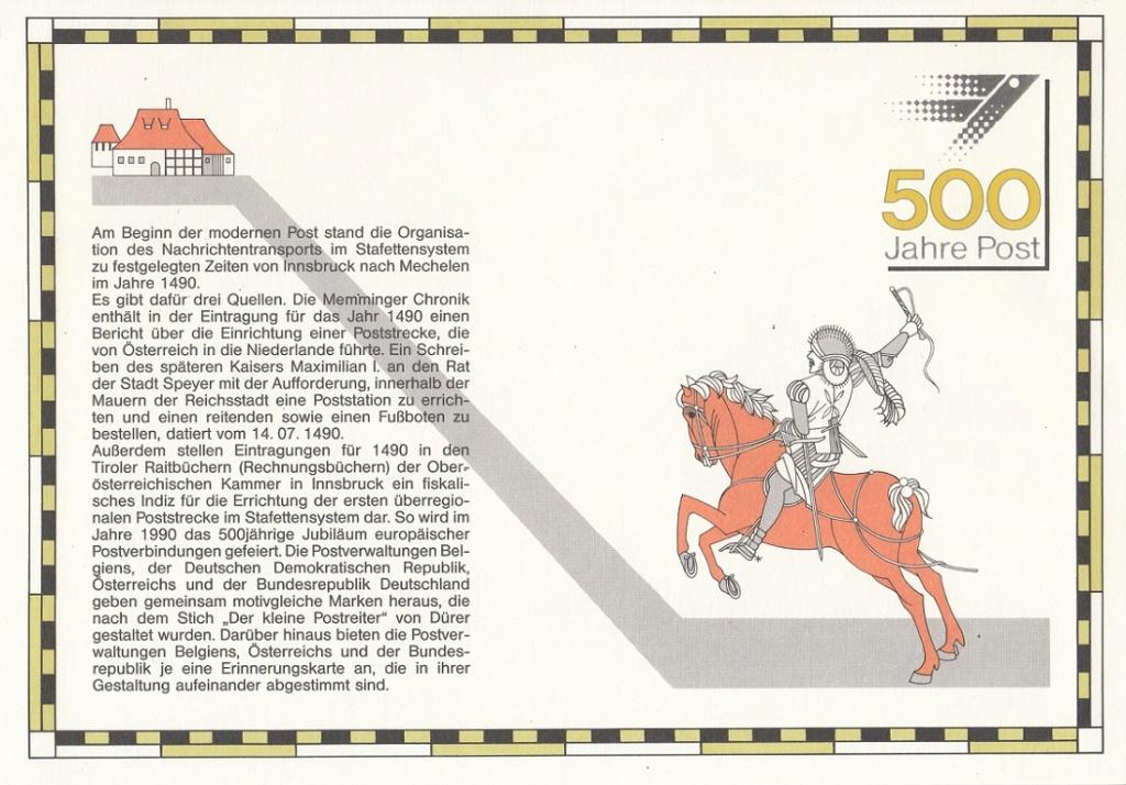 Historische Postwege in Europa Hp310
