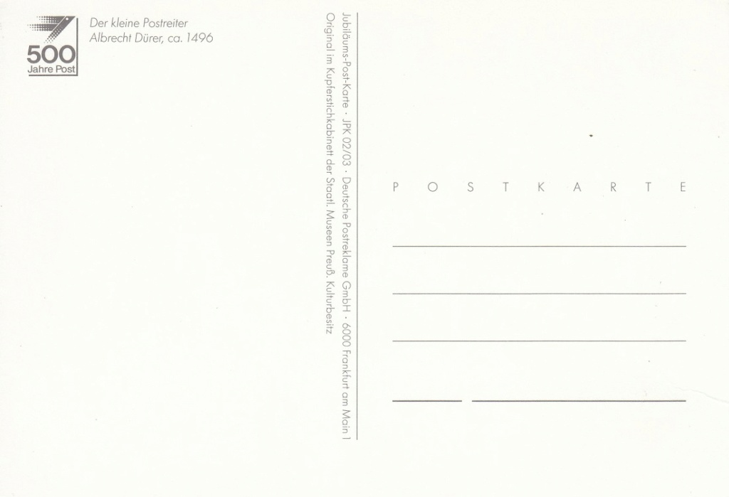 Historische Postwege in Europa Hp510