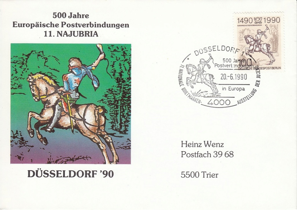 Historische Postwege in Europa Hp610