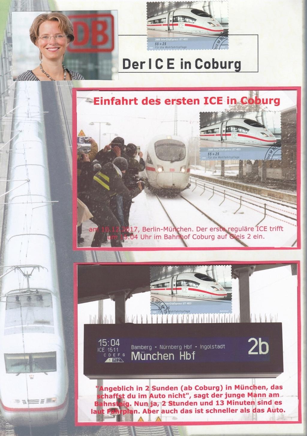 Das Eisenbahnthema im Stempel Ice110