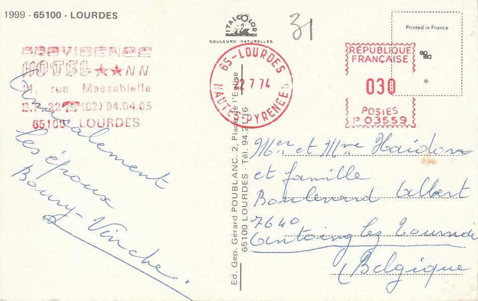 Wallfahrtsort Lourdes L-3910