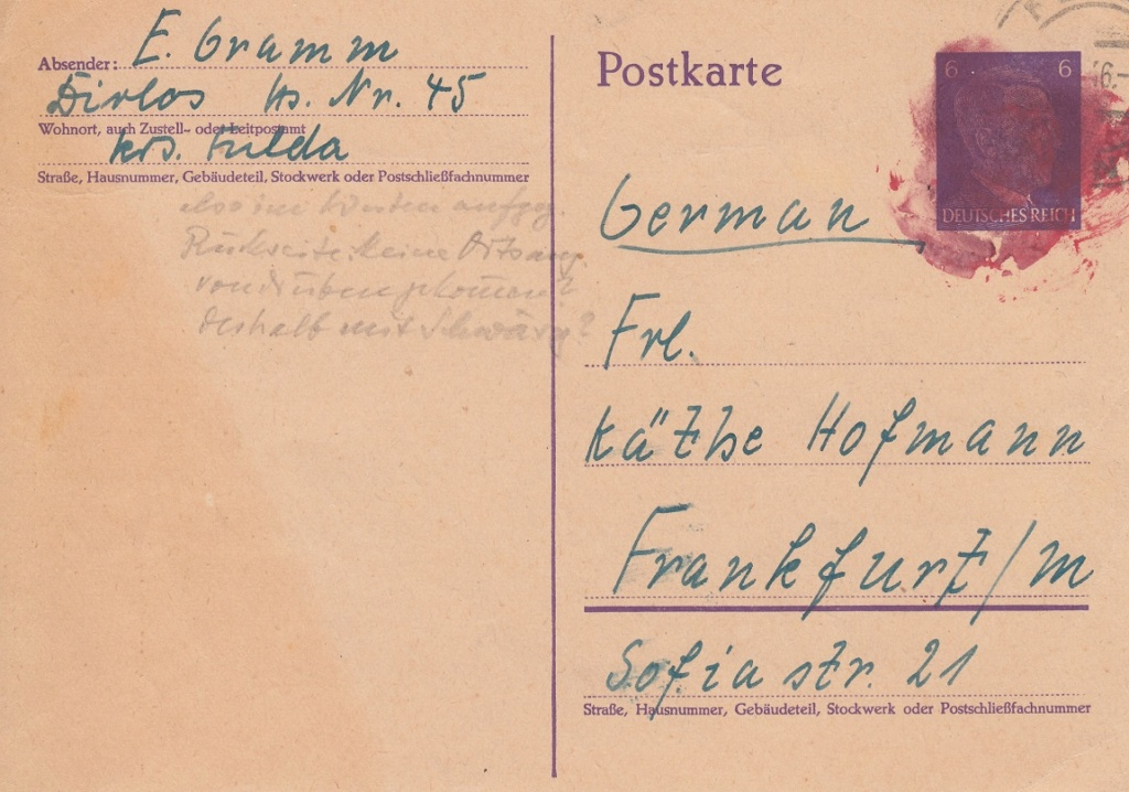 Nachverwendung (nach 1945) Deutsches Reich Briefmarken/Ganzsachen N110
