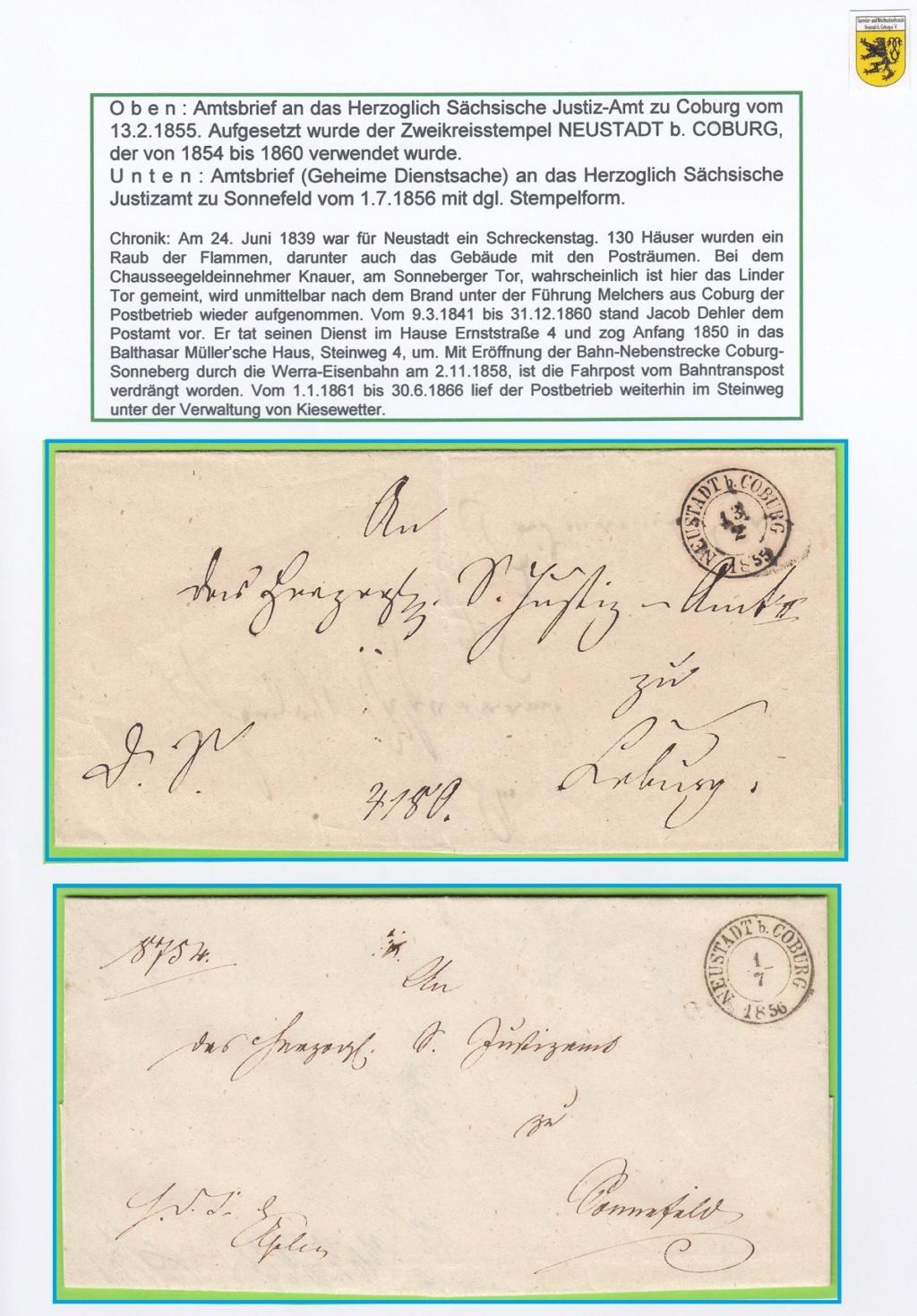 Die Postgeschichte von Neustadt bei Coburg Nec1010