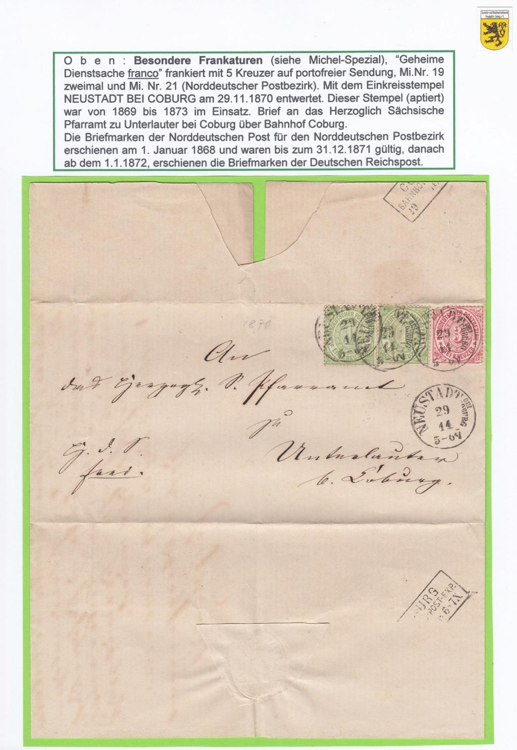 Die Postgeschichte von Neustadt bei Coburg Nec1210