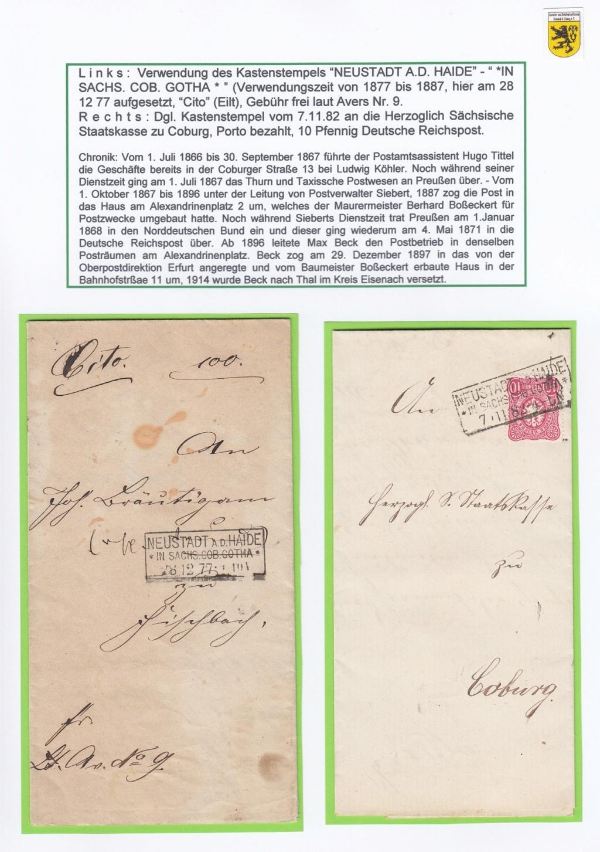 Die Postgeschichte von Neustadt bei Coburg Nec1310