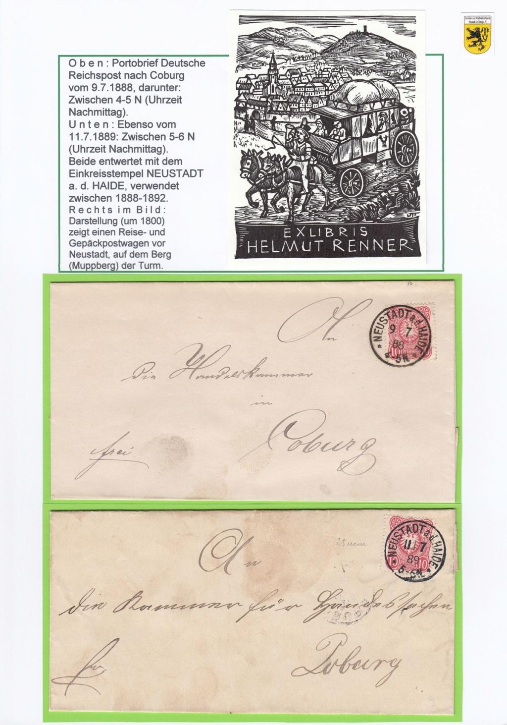 Die Postgeschichte von Neustadt bei Coburg Nec1410