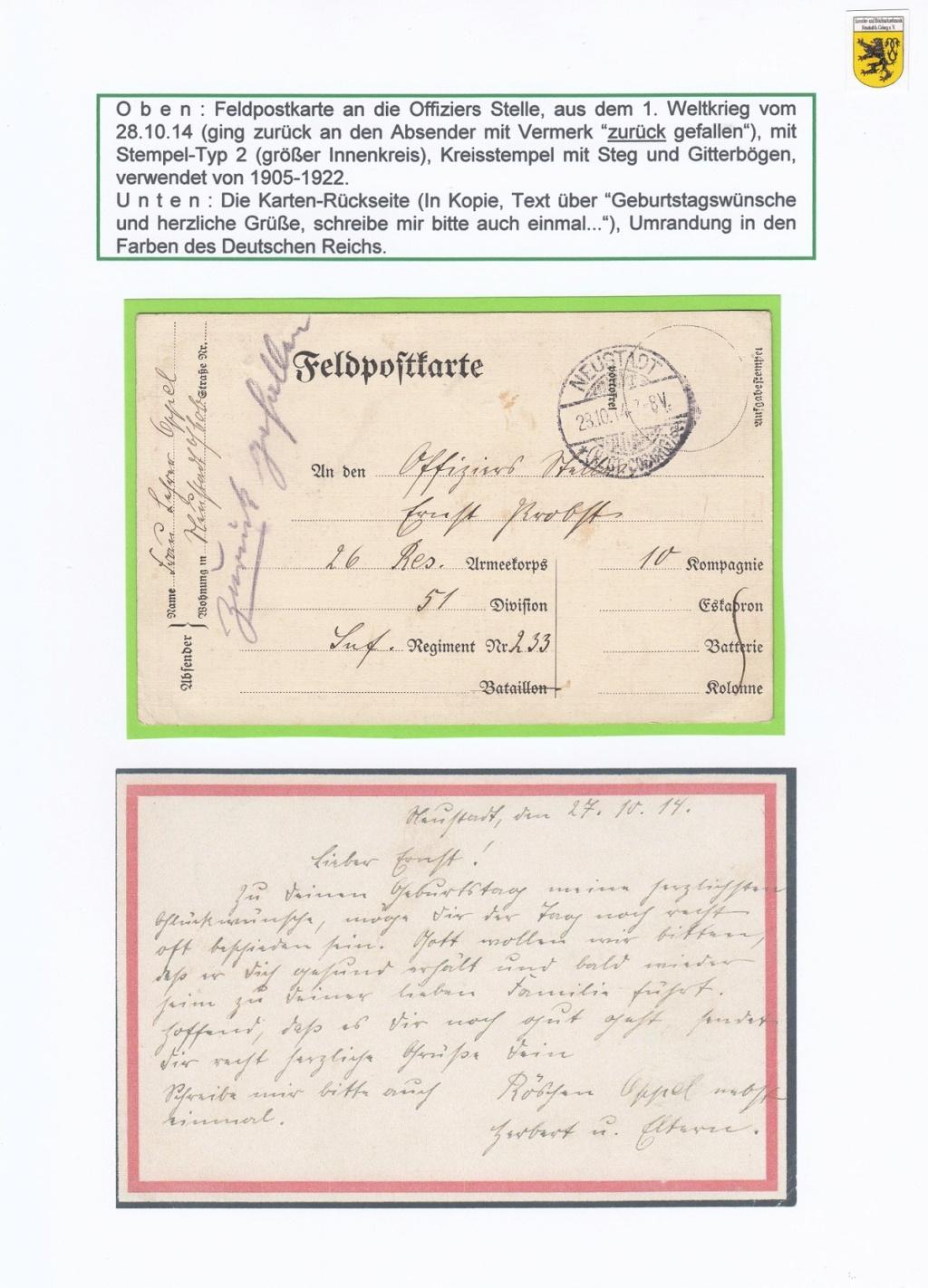 Die Postgeschichte von Neustadt bei Coburg Nec1510