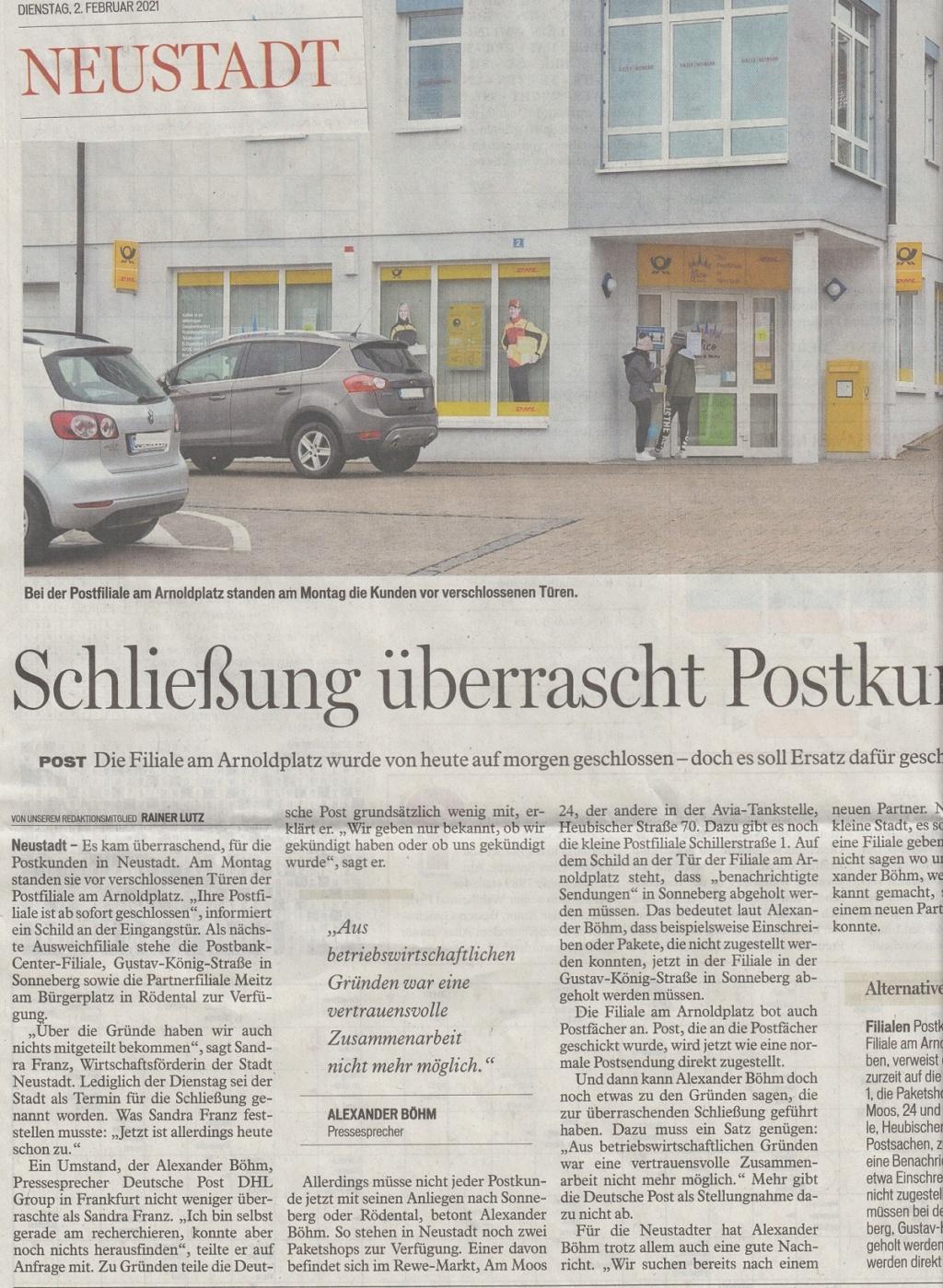 Die Postgeschichte von Neustadt bei Coburg Nec1710