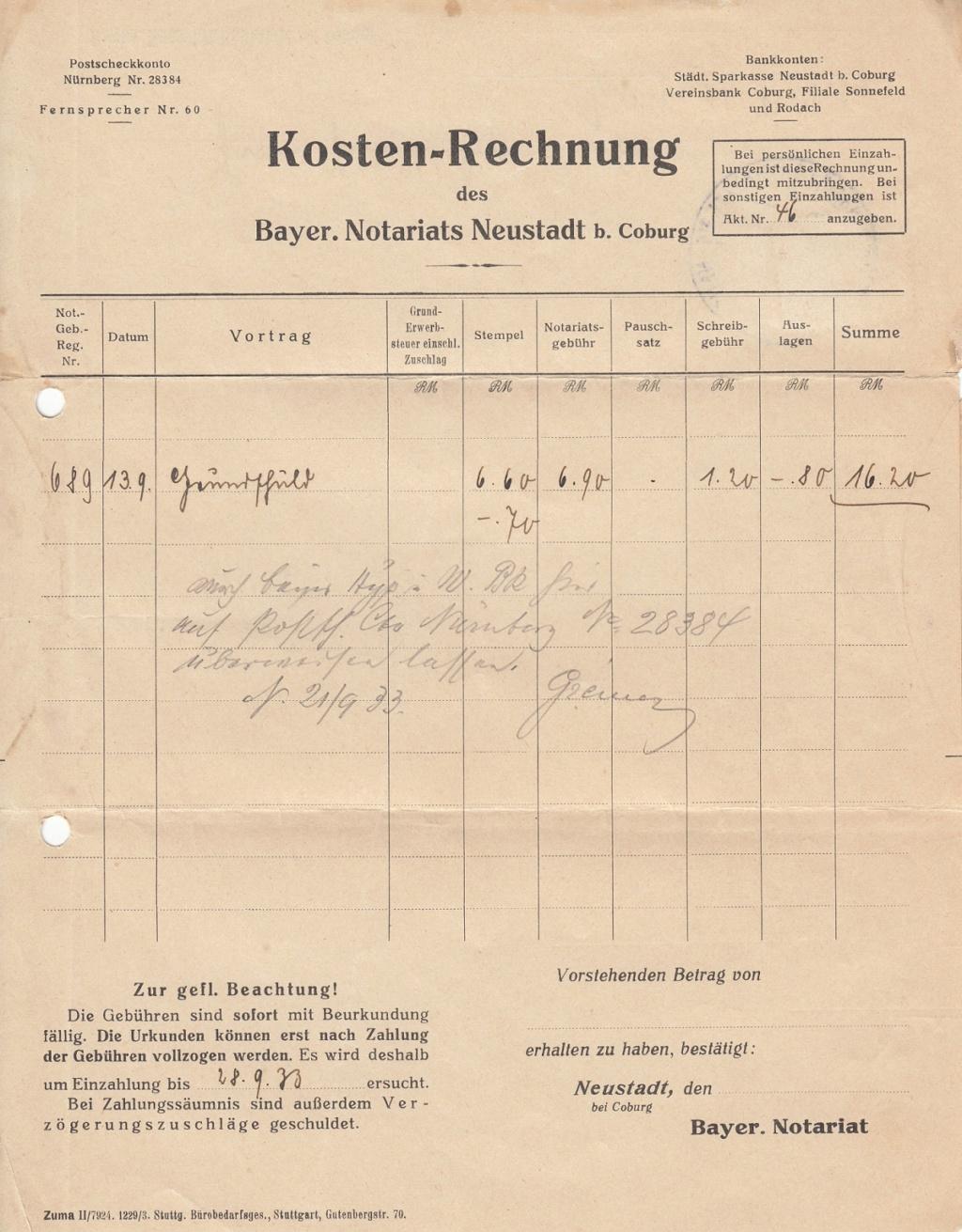 Die Postgeschichte von Neustadt bei Coburg Nec2110