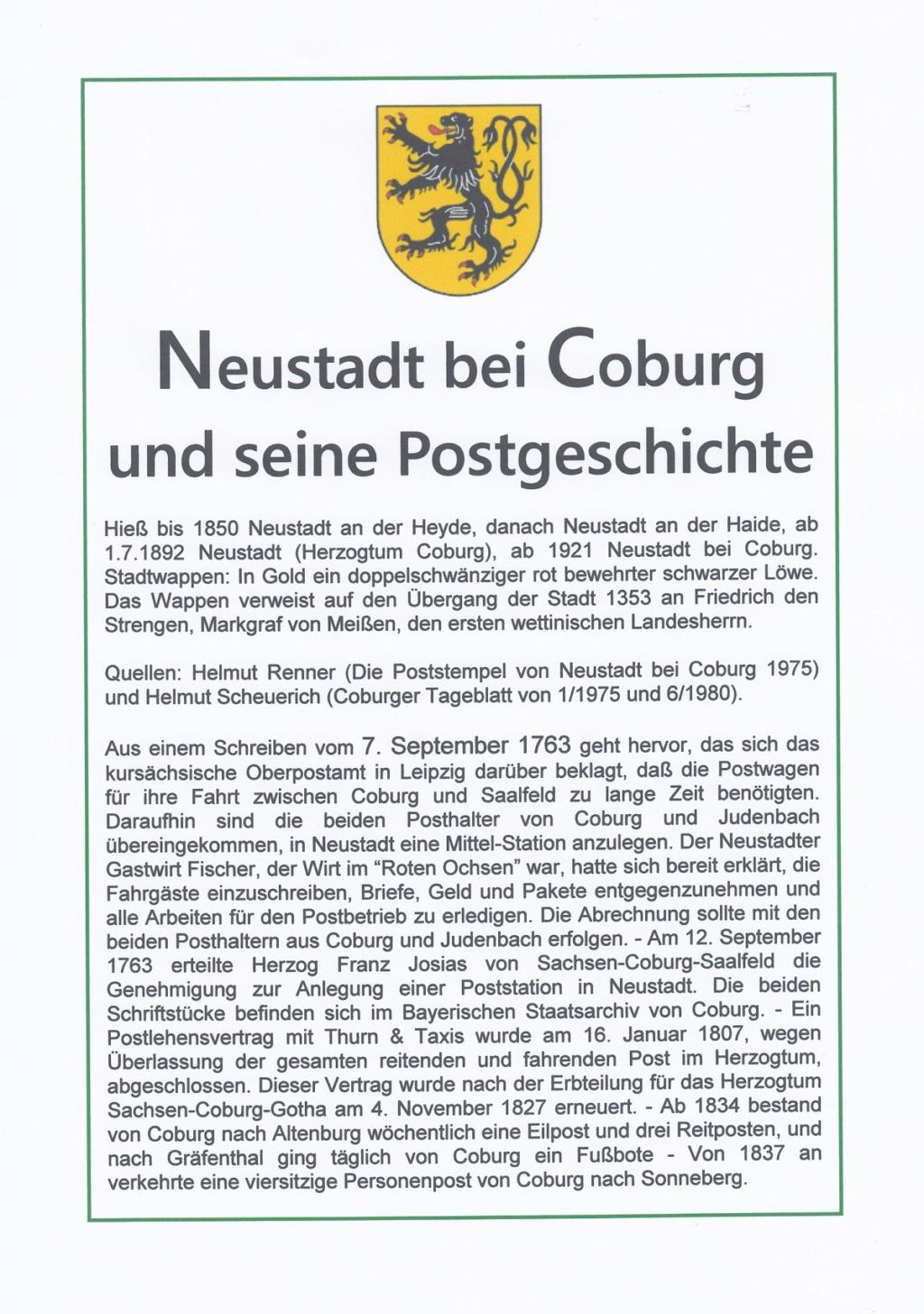 Die Postgeschichte von Neustadt bei Coburg Nec510