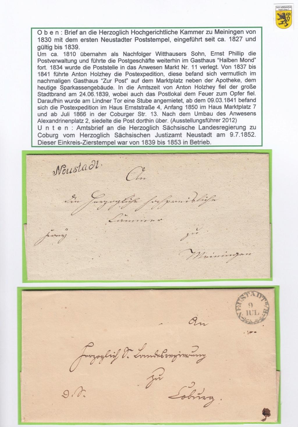 Die Postgeschichte von Neustadt bei Coburg Nec810
