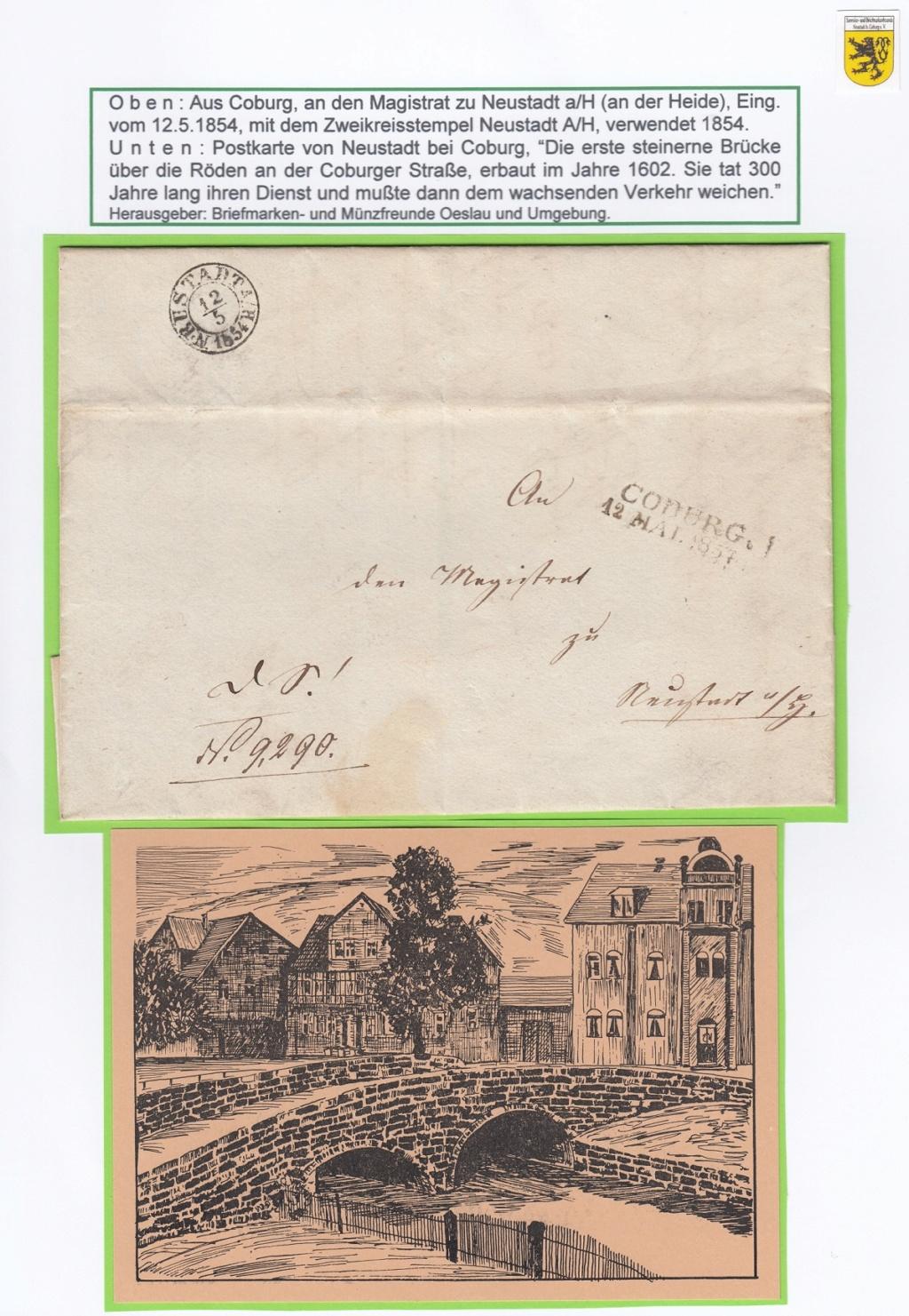 Die Postgeschichte von Neustadt bei Coburg Nec910