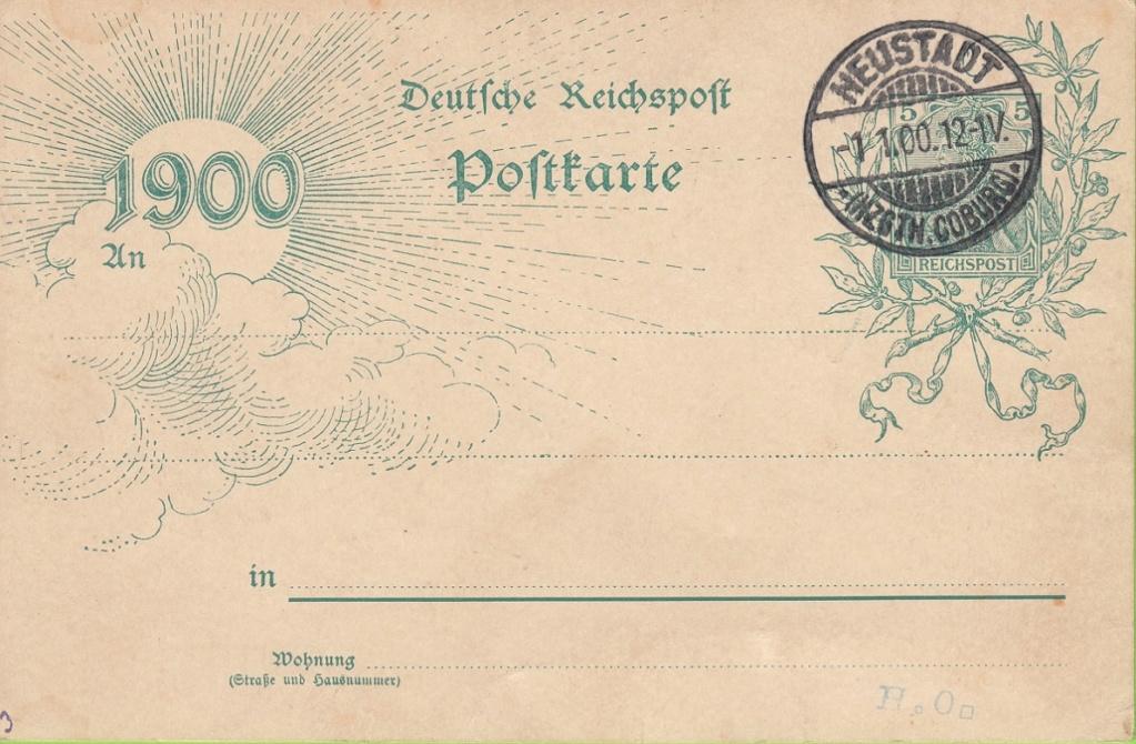 Die Postgeschichte von Neustadt bei Coburg Wettbe11