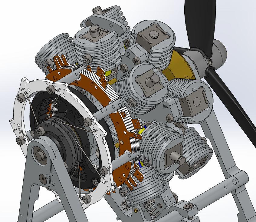 Moteur double-étoile à électro-aimants Ed14_a12