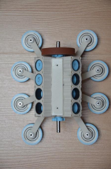 Moteur à air comprimé imprimé 3D Mamv8_16