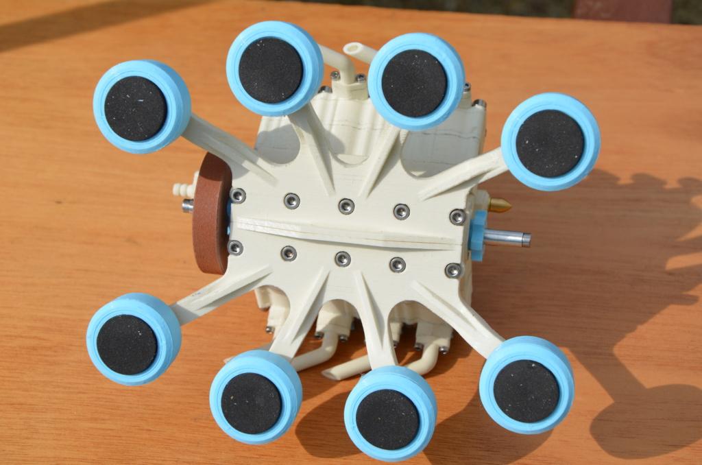Moteur à air comprimé imprimé 3D Mamv8_19