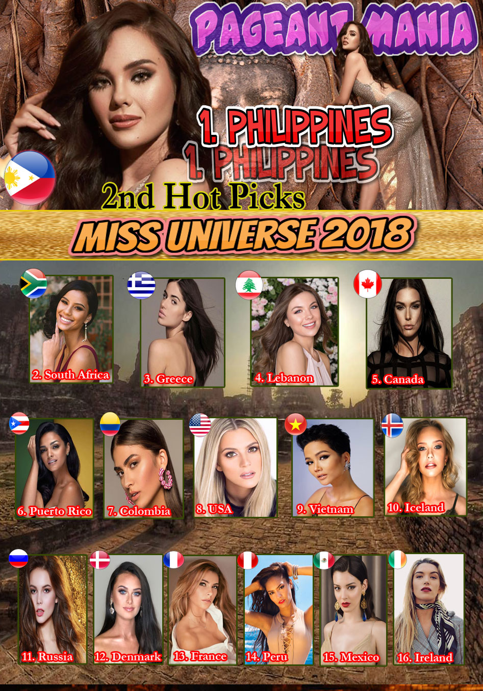 PAGEANT MANIA - MISS UNIVERSE 2018 * POST - ARRIVAL HOT PICKS* - Page 2 2nd-hp10
