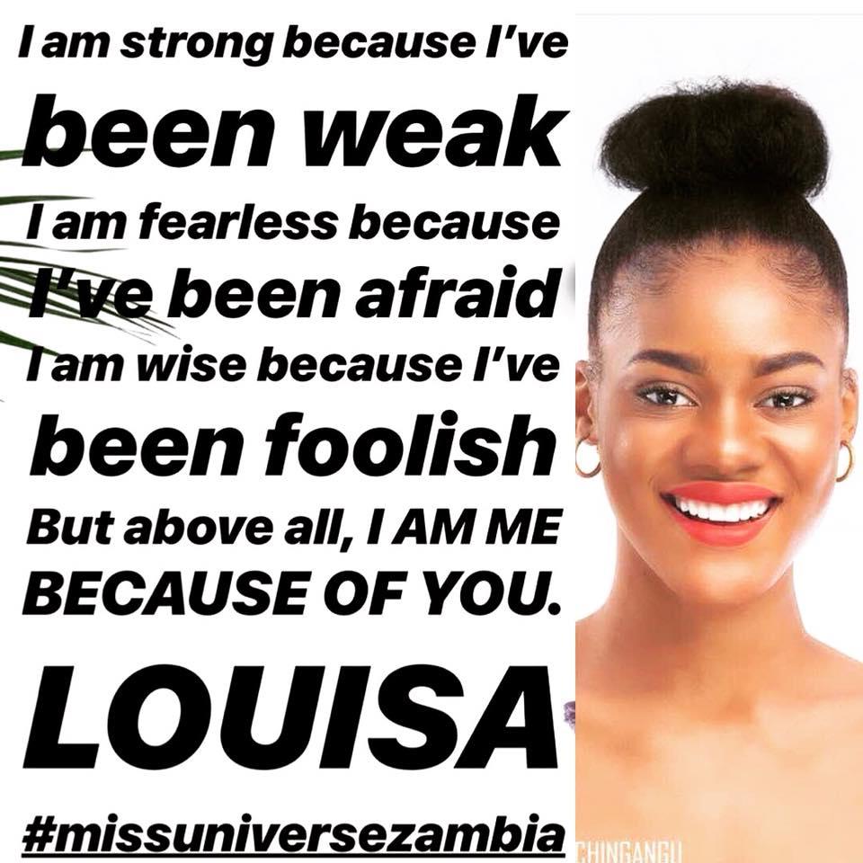 MISS UNIVERSE ZAMBIA 2018 is Melba Shakabozha 36912410