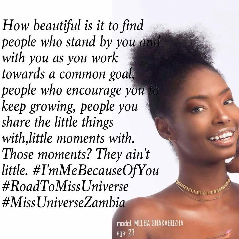 MISS UNIVERSE ZAMBIA 2018 is Melba Shakabozha 37003612