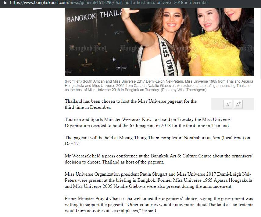 Miss Universe 2018 will be held in Bangkok, Thailand on December 16 - Page 3 43676212