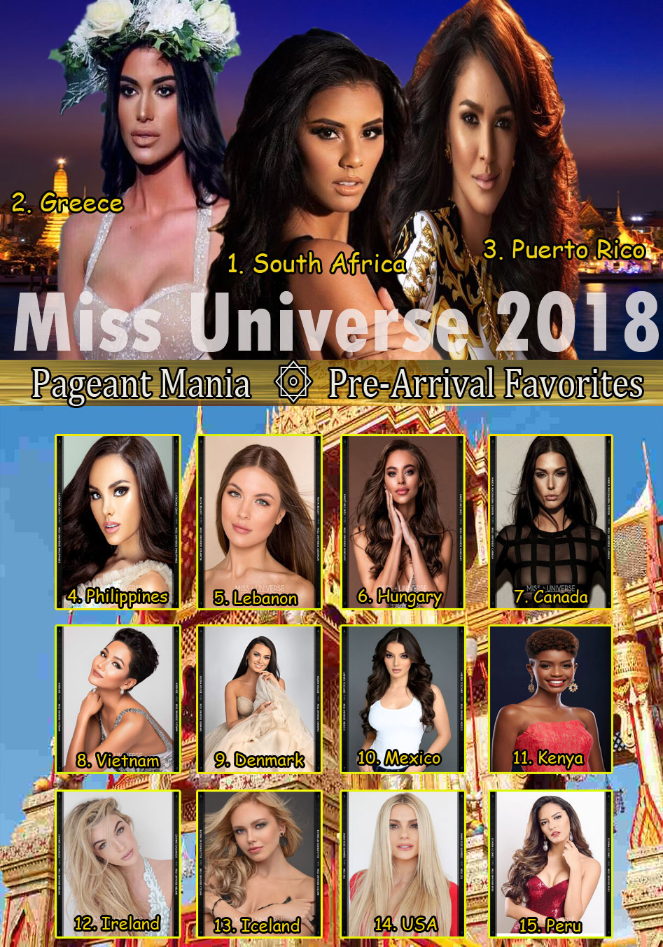 © PAGEANT MANIA © MISS UNIVERSE 2018 - OFFICIAL COVERAGE Finals Pm12