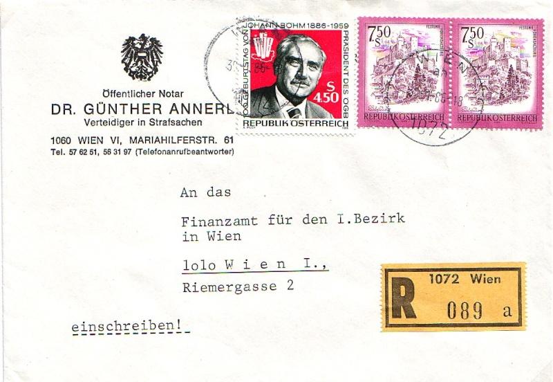 Sammlung Bedarfsbriefe Österreich ab 1945 - Seite 2 1987_a10