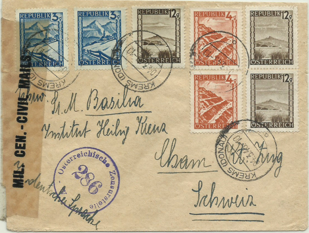 Landschaftsbilder ANK 738-766  -  Belege - Seite 10 1946_m10