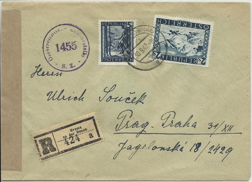 Ermäßigte Gebühren Ausland (CSR Ungarn etc.) 19470910
