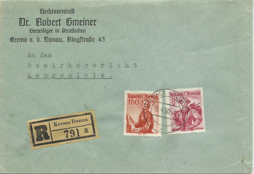 Trachtenserien ANK 887 - 923 und 1052 - 1072 Belege - Seite 11 19500410