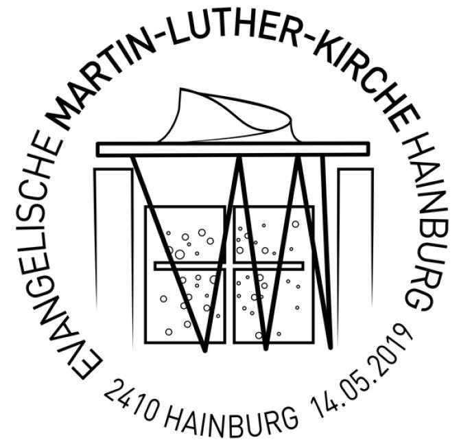 NEU: Sondermarkenausgabe Evangelische Martin-Luther-Kirche Hainburg 2_arch11