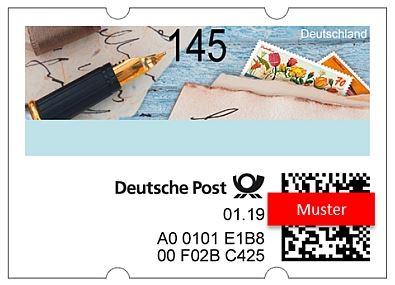 neue deutsche selbstkebende ATM als Postversuch Atm10