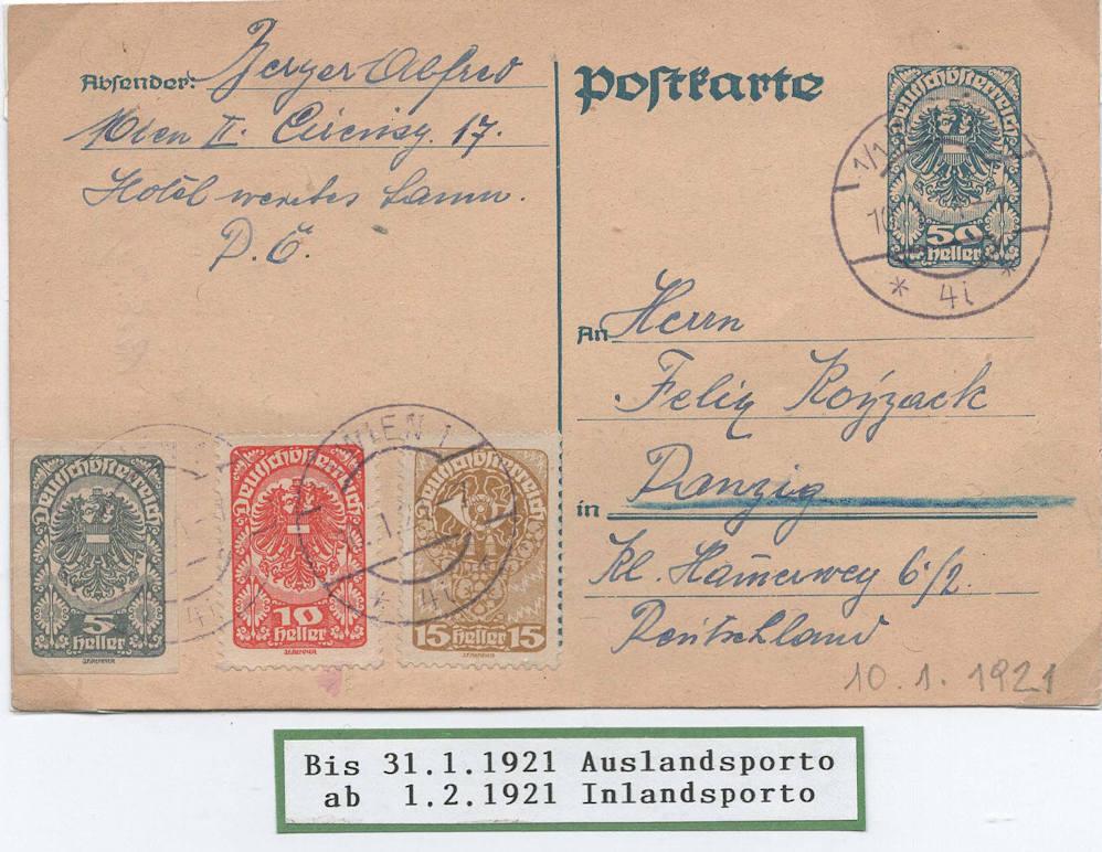 """Postkartenserie """"Neuer Wappenadler"""", Inschrift """"Deutschösterreich"""" - Seite 3 Auslan10"""
