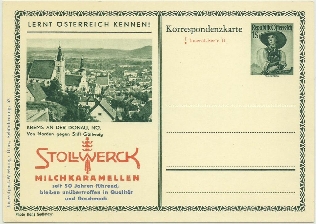 Inseratpostkarten als Zudruckkarten Bildpo10