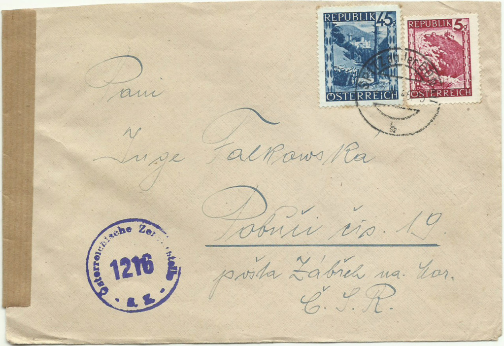 Ermäßigte Gebühren Ausland (CSR Ungarn etc.) Brief_13