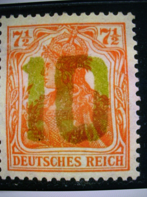 Germania Briefmarke 7 1/2 mit 10 Aufdruck Dlz12710